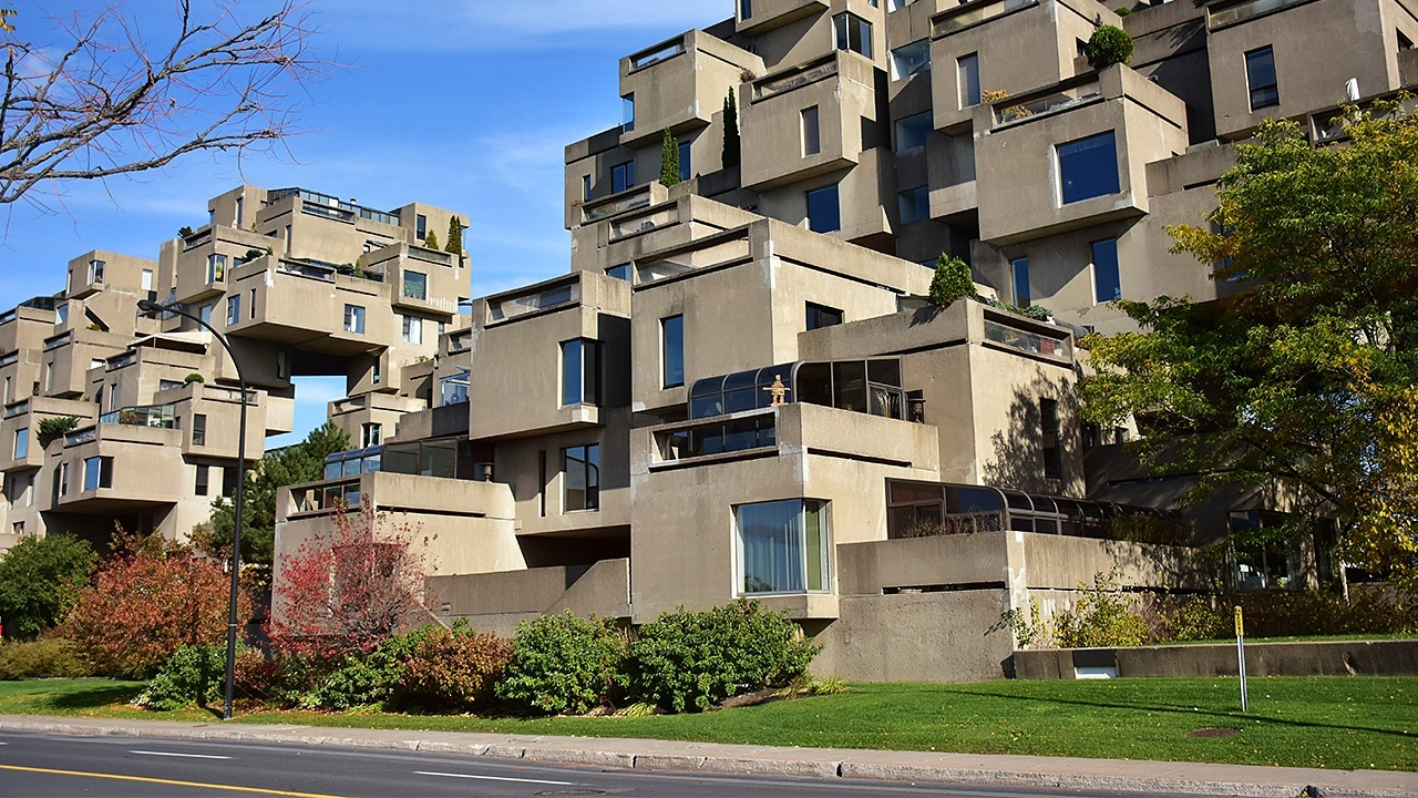 Montreal's Habitat 67 is among the world's most famous brutalist buildings