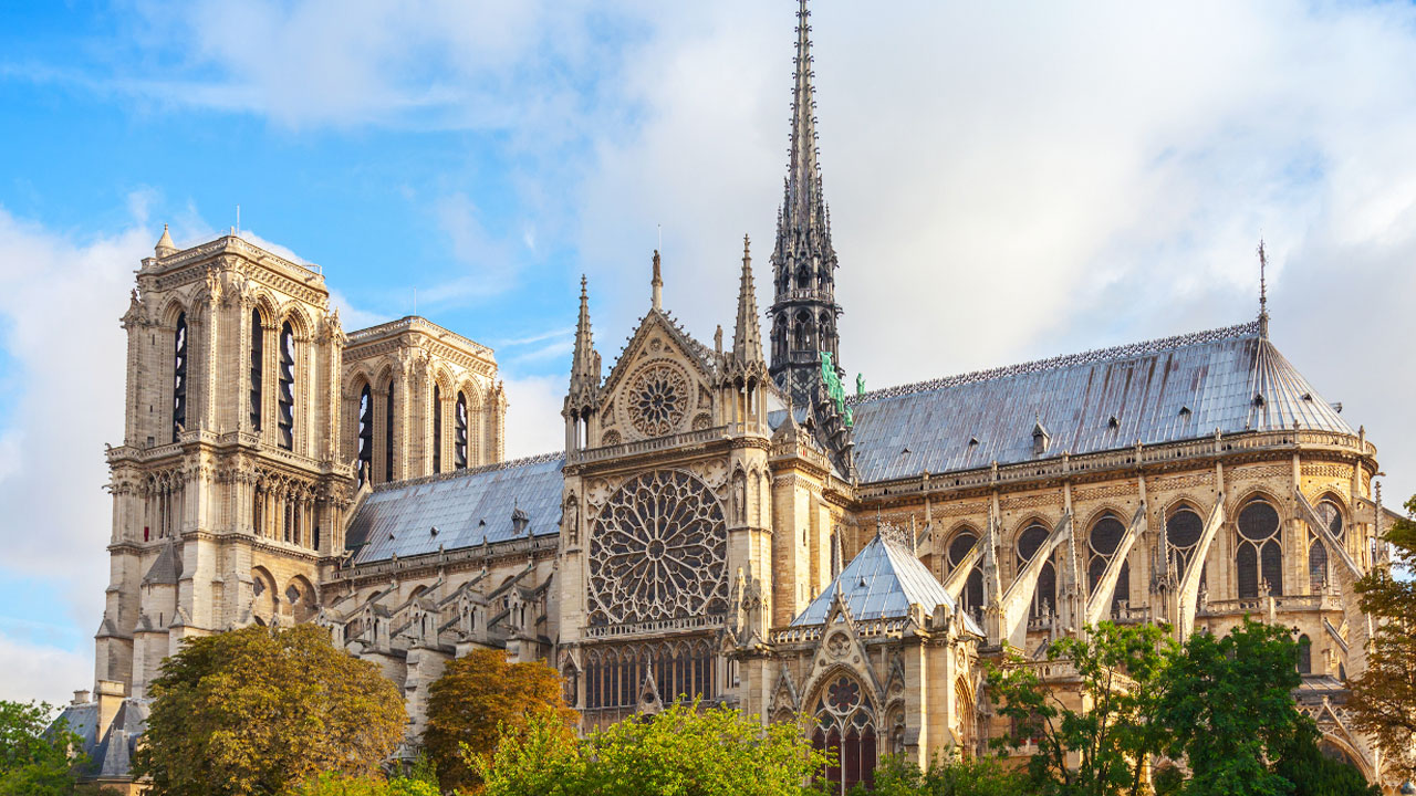 The Notre-Dame Cathedral in Paris is one of the most famous examples of Gothic architecture