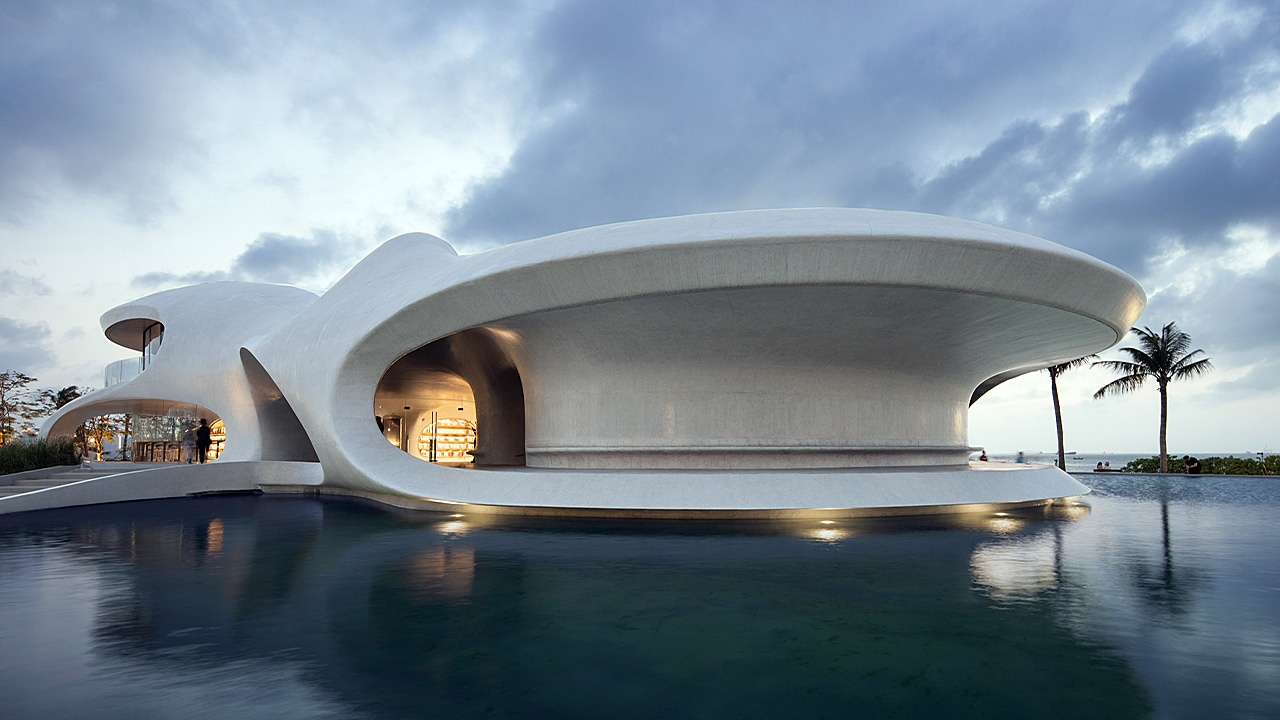 The Wormhole Library in Hainan, China is one of the most popular architectural designs this year.